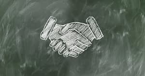 Chalkboard Shaking Hands