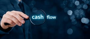 Cash flow magnifying glass